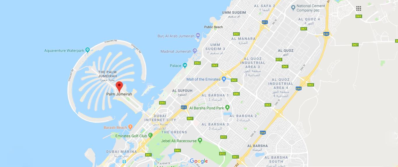 مربعة-ريزيدنس خريطة الموقع