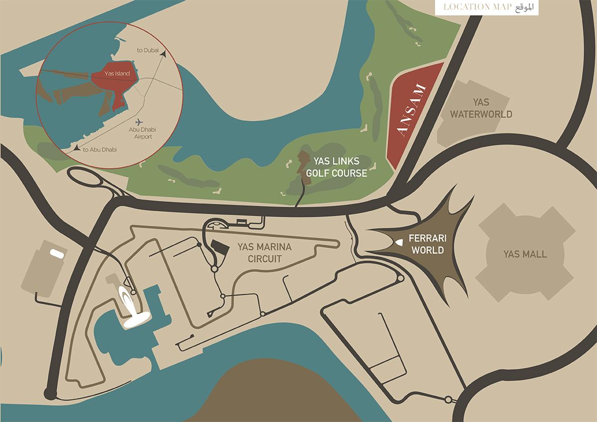 أنسام-جزيرة-ياس خريطة الموقع