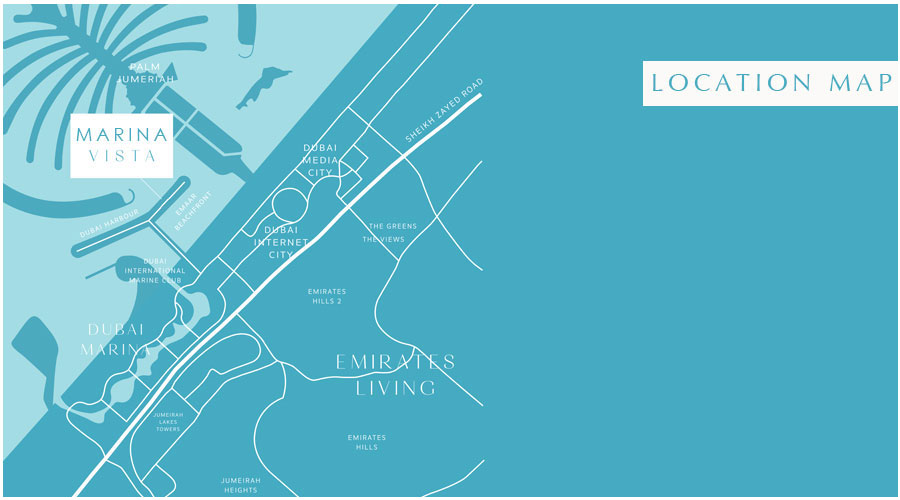 شقق-مارينا-فيستا خريطة الموقع