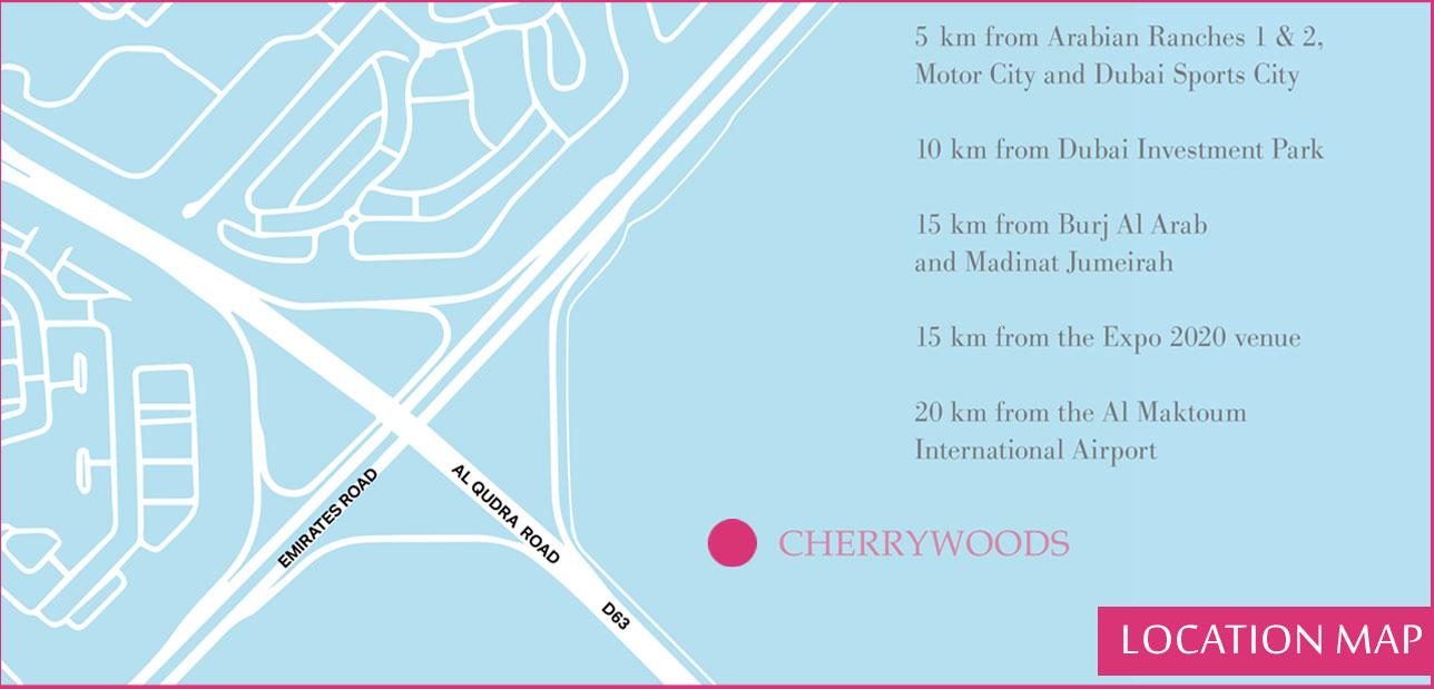 تشيري-وودز-تاون-هاوسز خريطة الموقع