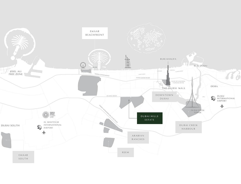 فلل-جولف-جروف خريطة الموقع