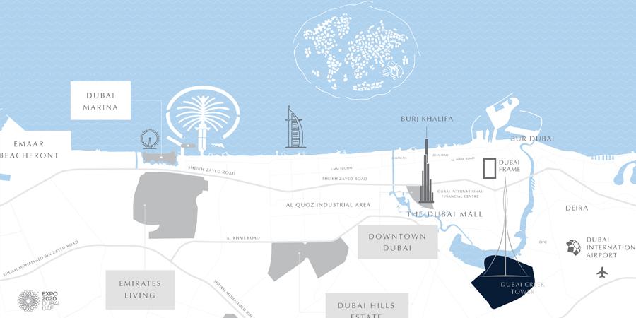 شقق-باي-شور-على-شاطئ-الخور خريطة الموقع