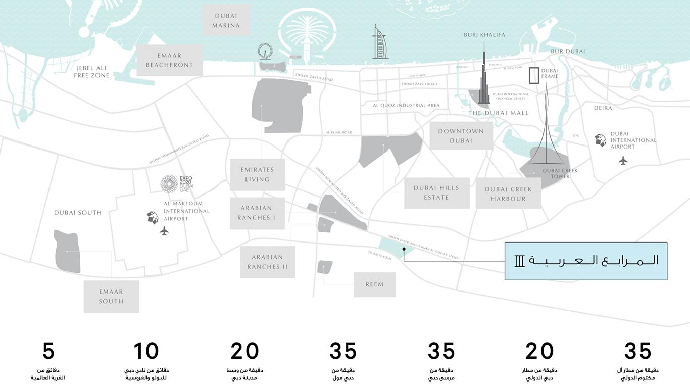 صن-تاون-هاوسز-في-المرحلة-الثالثة-من-المرابع-العربية خريطة الموقع