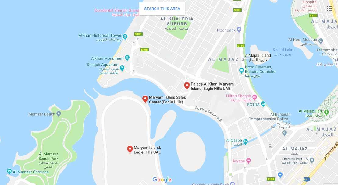 إنديجو-بيتش-ريزيدنس خريطة الموقع