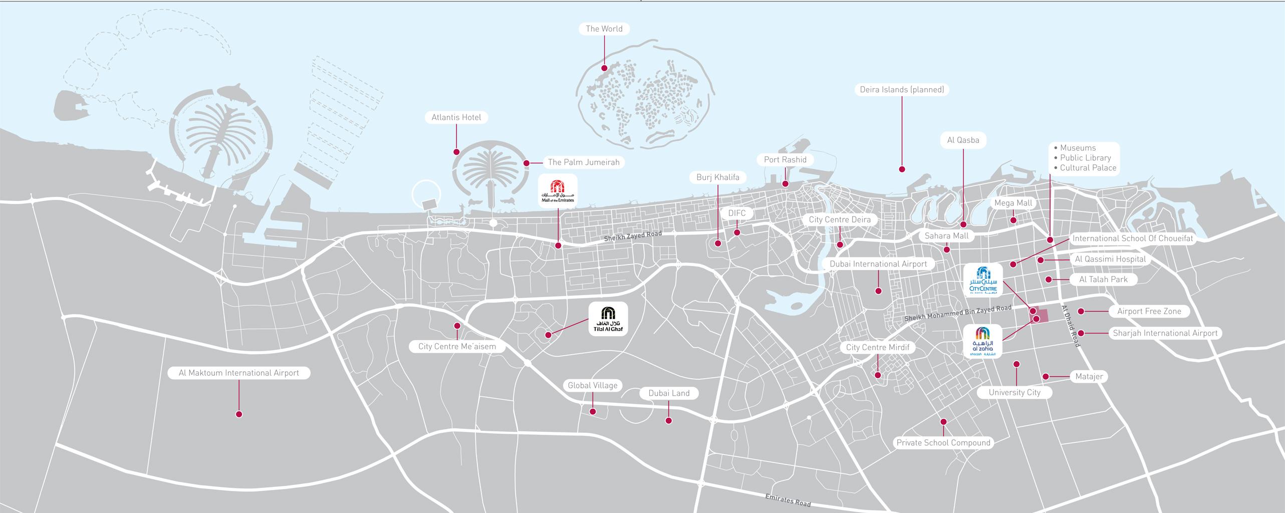الياسمين-في-الزاهية خريطة الموقع