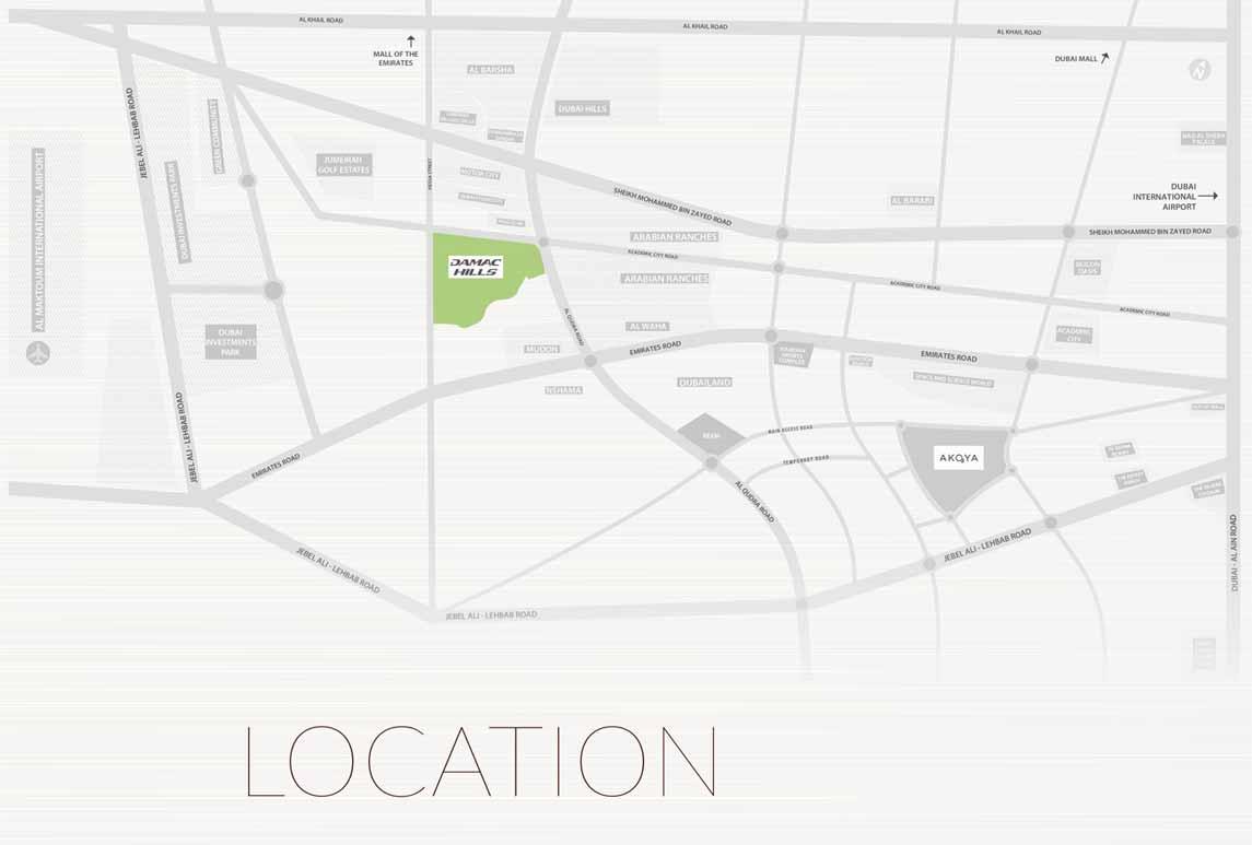 شقق-كيارا-في-داماك-هيلز خريطة الموقع