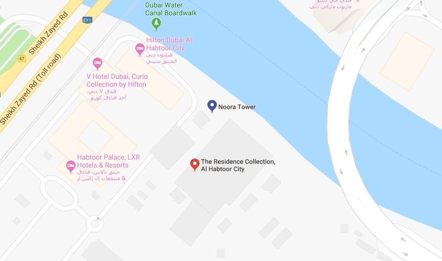 برج-نورة خريطة الموقع
