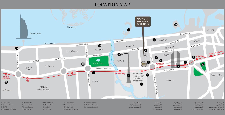 مراس-سيتي-ووك-مبنى-سكني-16 خريطة الموقع