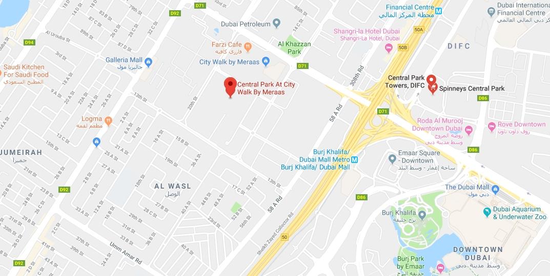 سنترال-بارك-مبنى-1 خريطة الموقع
