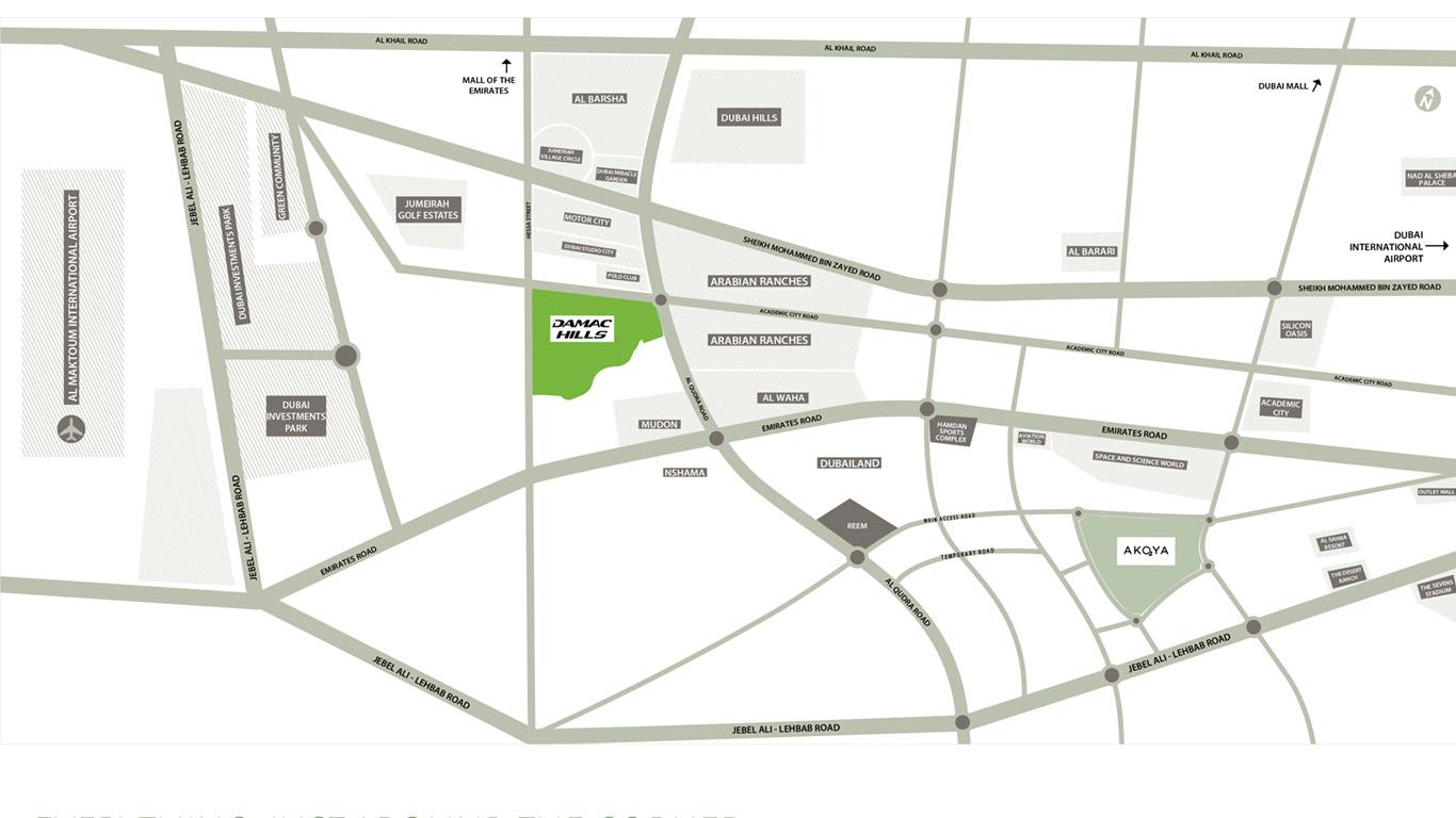 بيلافيستا-في-داماك-هيلز خريطة الموقع