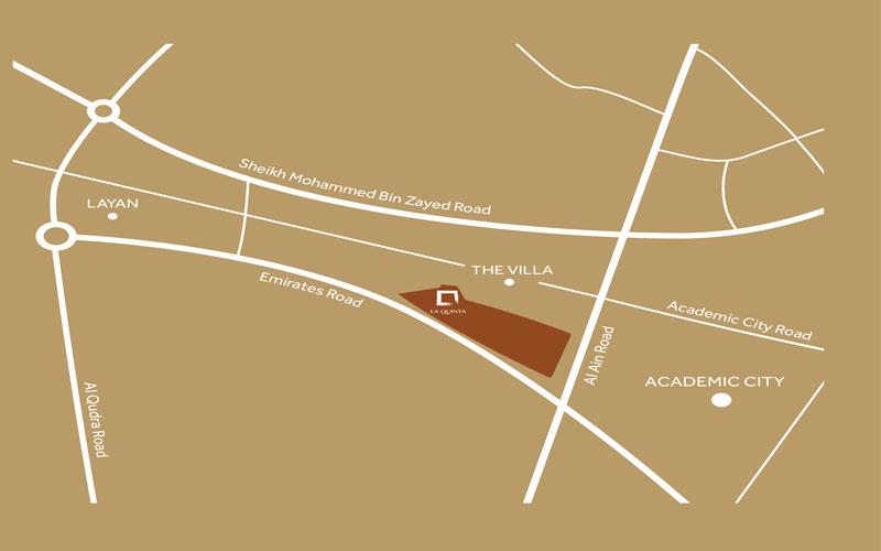 فيلانوفا-لاكوينتا خريطة الموقع