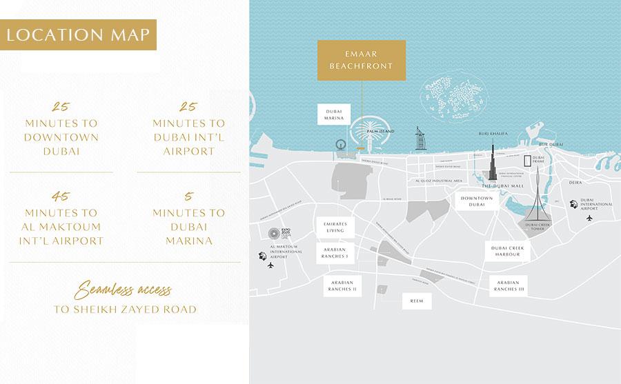 جراند-بلو-تاور خريطة الموقع