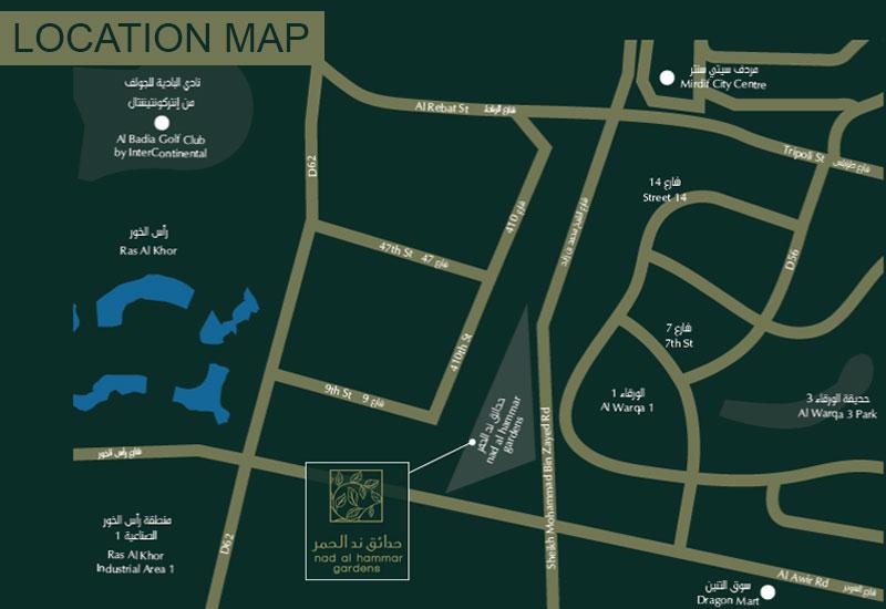 ند-الحمر خريطة الموقع