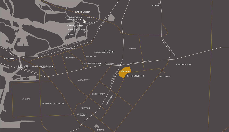 الريمان خريطة الموقع