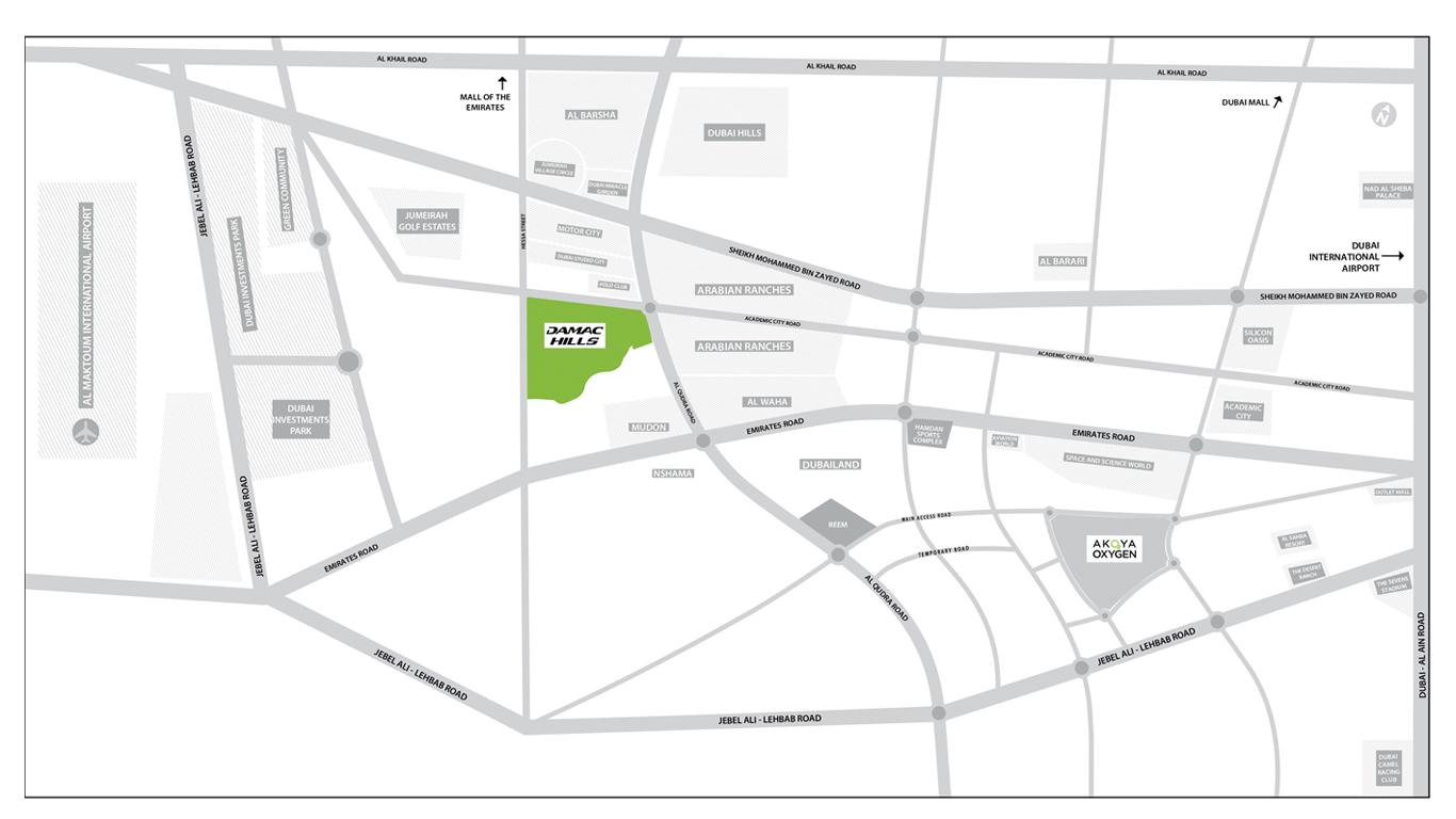 تاون-هاوس-في-داماك-هيلز خريطة الموقع
