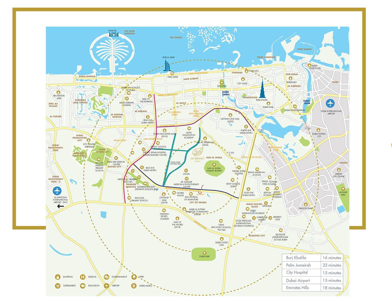 شقق-الحي خريطة الموقع