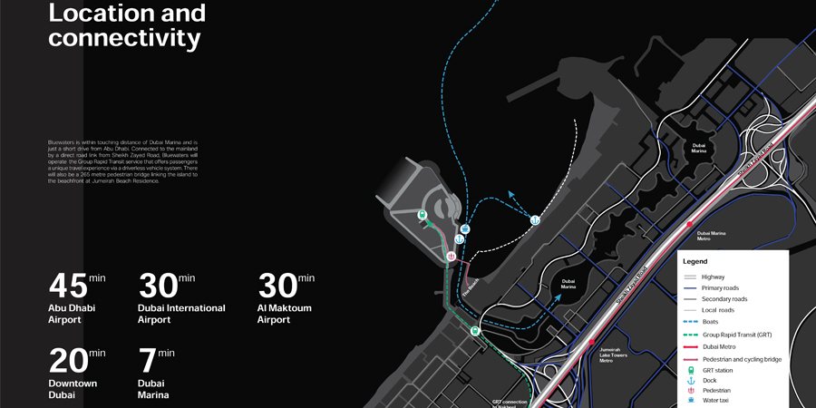 بلو-واترز-مبنى-5 خريطة الموقع