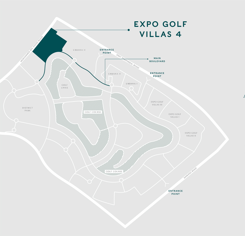 فلل-إكسبو-جولف-المرحلة-الـ-4 خريطة الموقع