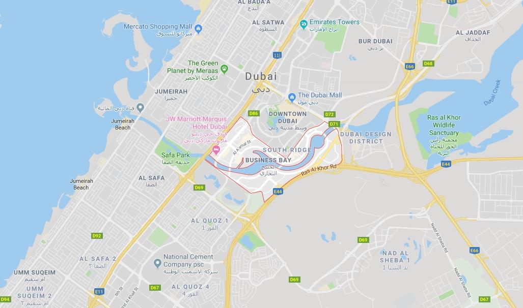 برج-زادا خريطة الموقع