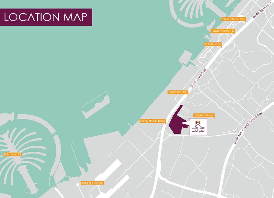 هيلسايد-ريزيدنسز خريطة الموقع