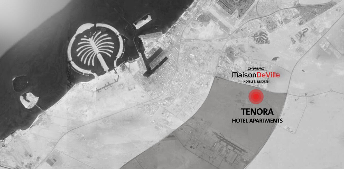 شقق-تينورا-من-داماك خريطة الموقع
