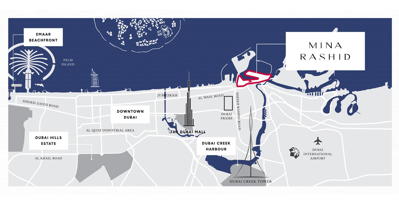 سيردانا-من-إعمار-العقارية خريطة الموقع