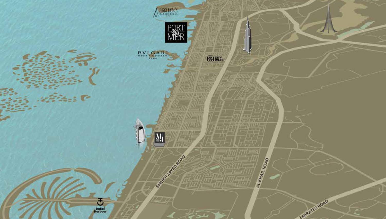 سور-لا-مير خريطة الموقع