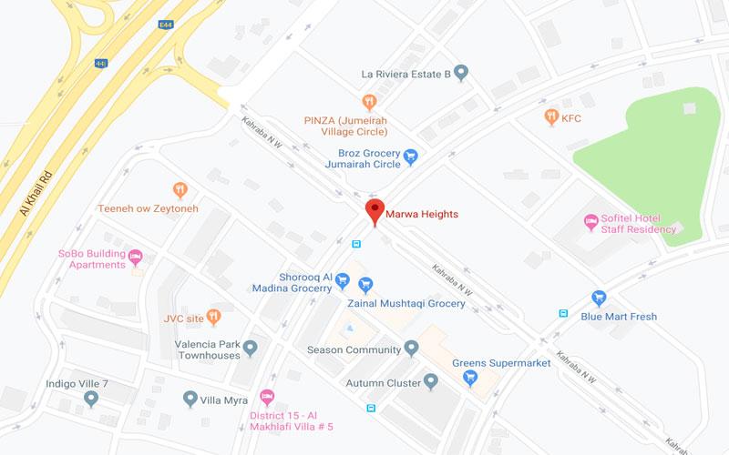 مروة-هايتس خريطة الموقع