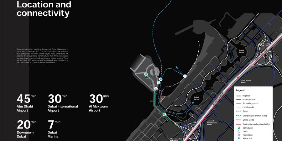 مراس-بلو-واترز-مبنى-9 خريطة الموقع