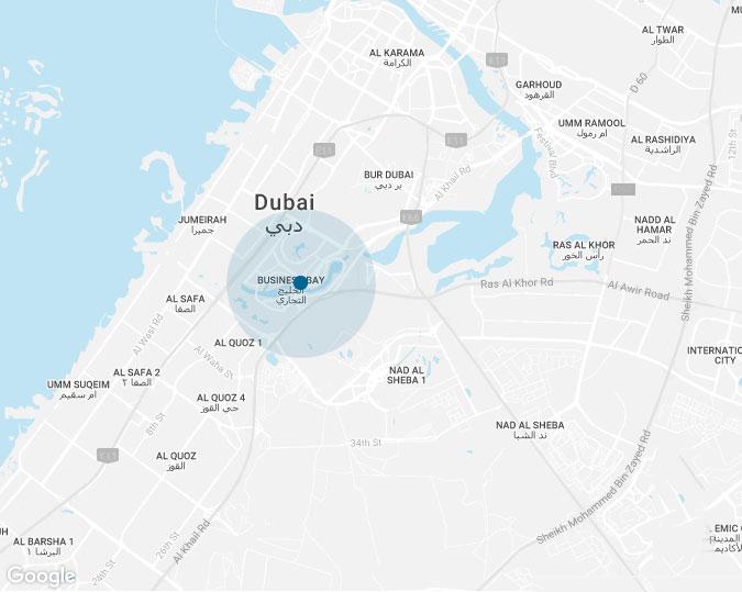 اديو-ليفنج-في-الخليج-التجاري خريطة الموقع