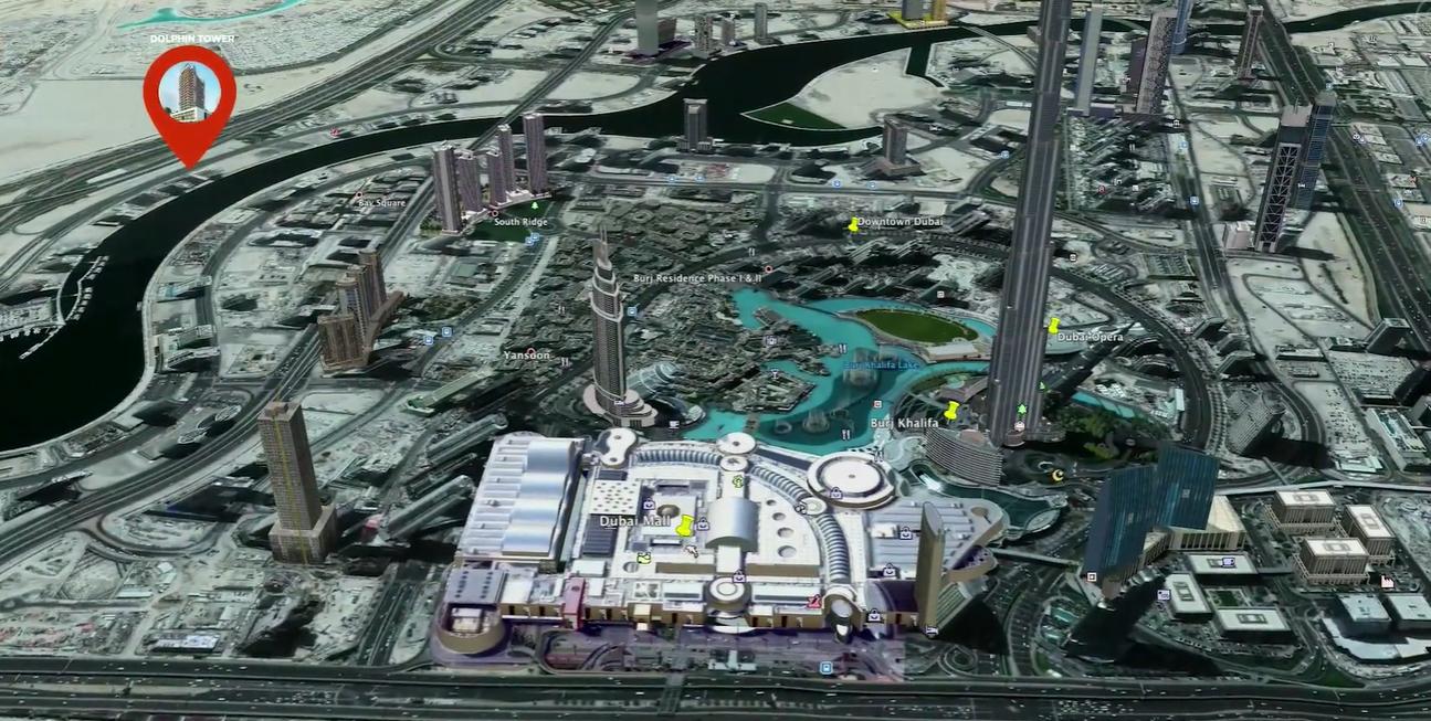 برج-دولفين خريطة الموقع
