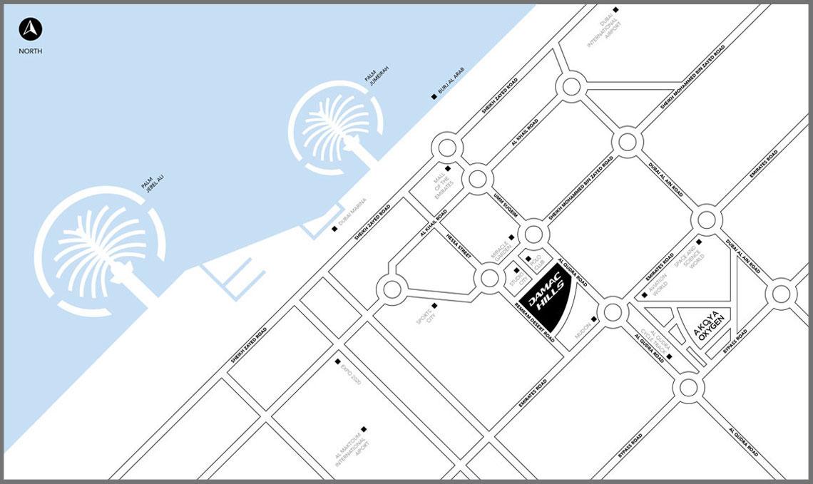 أكويا-تشيلسي خريطة الموقع