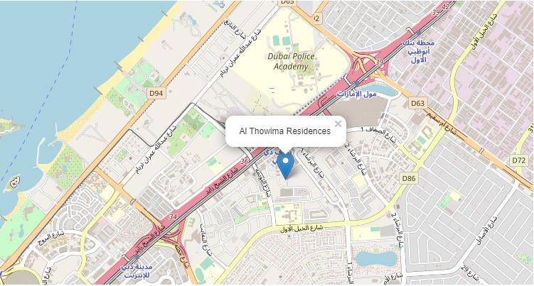 مساكن-الثويمة خريطة الموقع