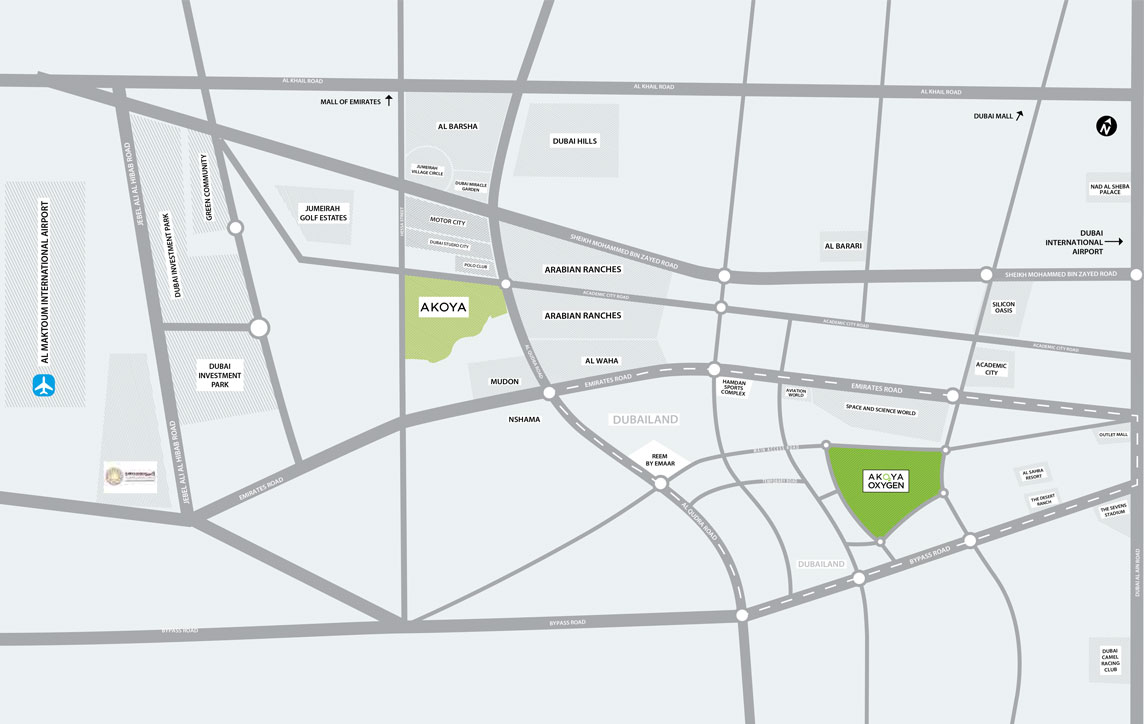 فلل-أكويا-غينيس خريطة الموقع