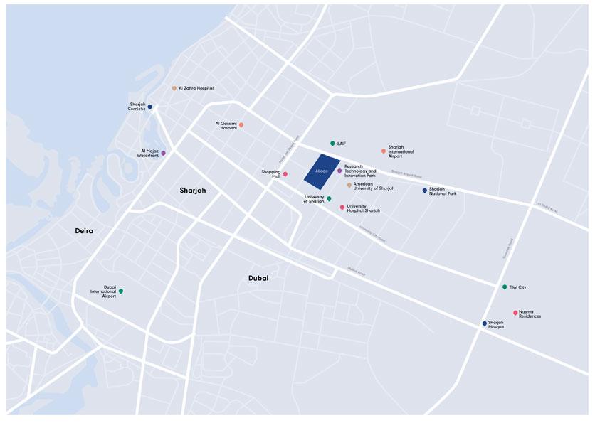 ذا-بوليفارد-في-الجادة خريطة الموقع