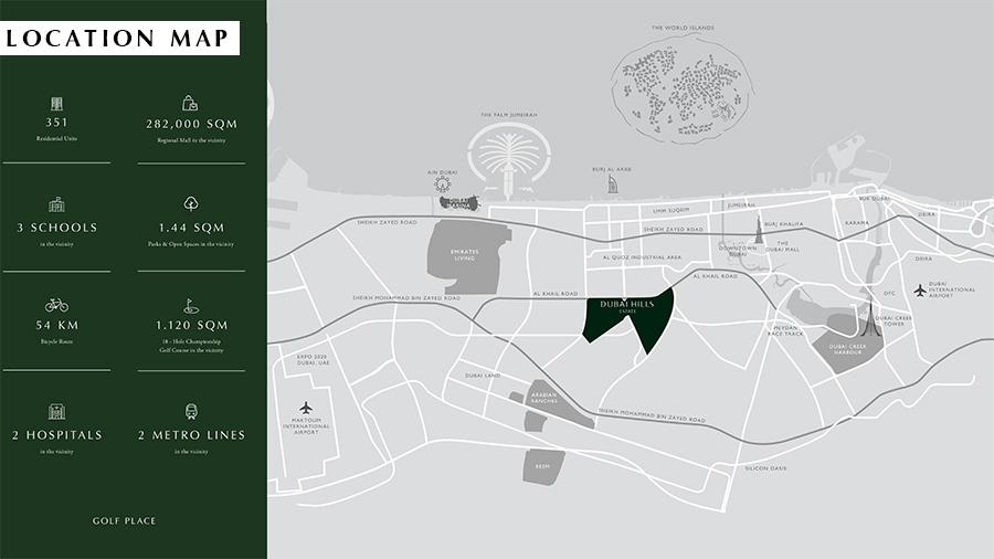 جولف-بلايس-المرحلة-2 خريطة الموقع