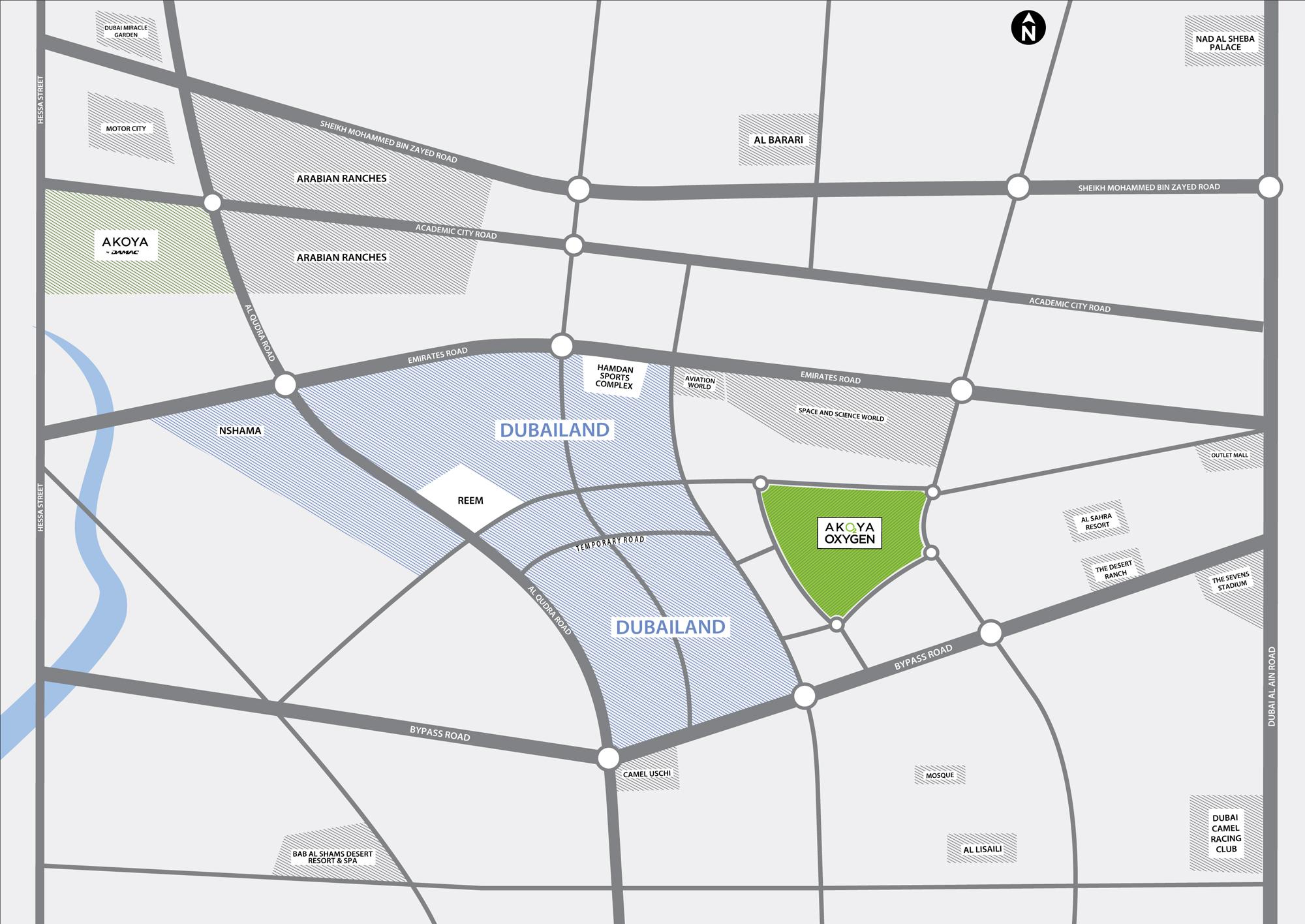 أكويا-كاسكيدز خريطة الموقع
