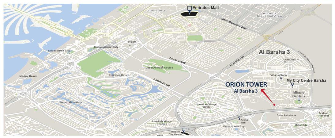 مبنى-أوريون خريطة الموقع