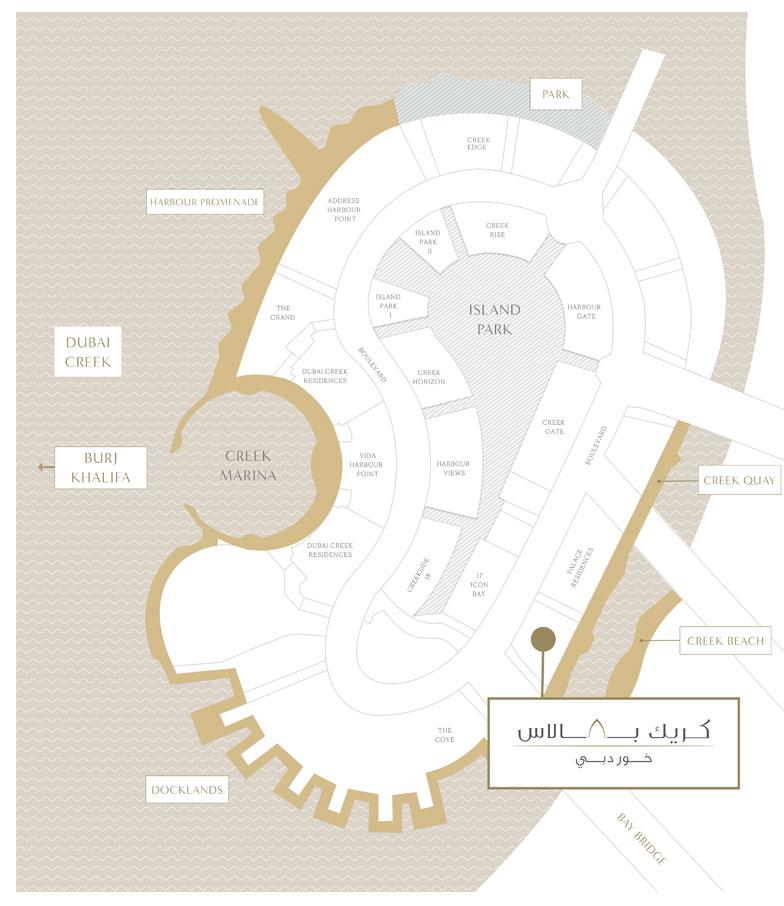 كريك-بالاس خريطة الموقع