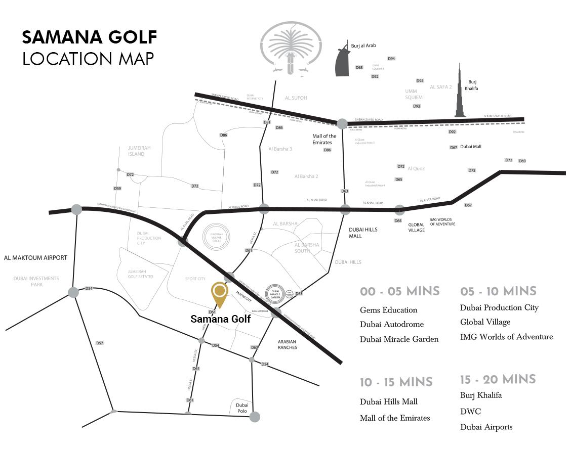 سمانا-جولف-أفنيو خريطة الموقع