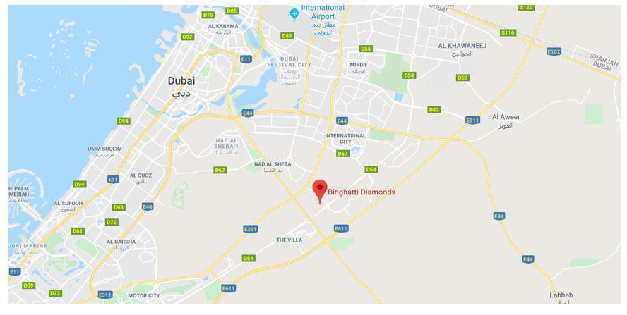 بن-غاطي-دايموندز خريطة الموقع