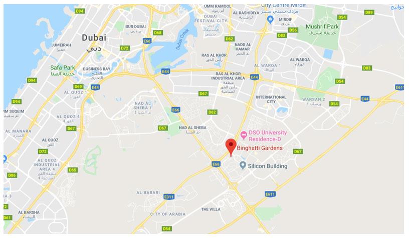 بنغاطي-جاردنز خريطة الموقع