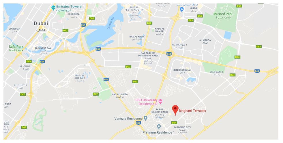 بن-غاطي-تيراسز خريطة الموقع