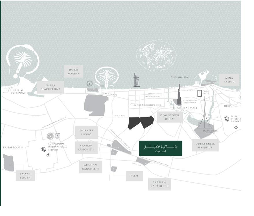 جرين-سكوير خريطة الموقع