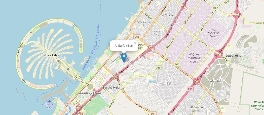فلل-الصرفة خريطة الموقع