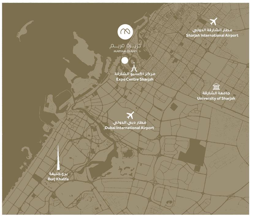 مريم-غيت-ريزيدنسز خريطة الموقع