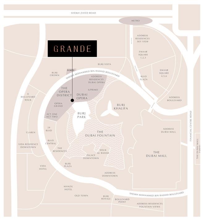 جراندي-سيغنتشر-ريزيدنسز خريطة الموقع