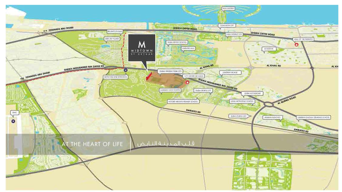 ميدتاون-مسك خريطة الموقع