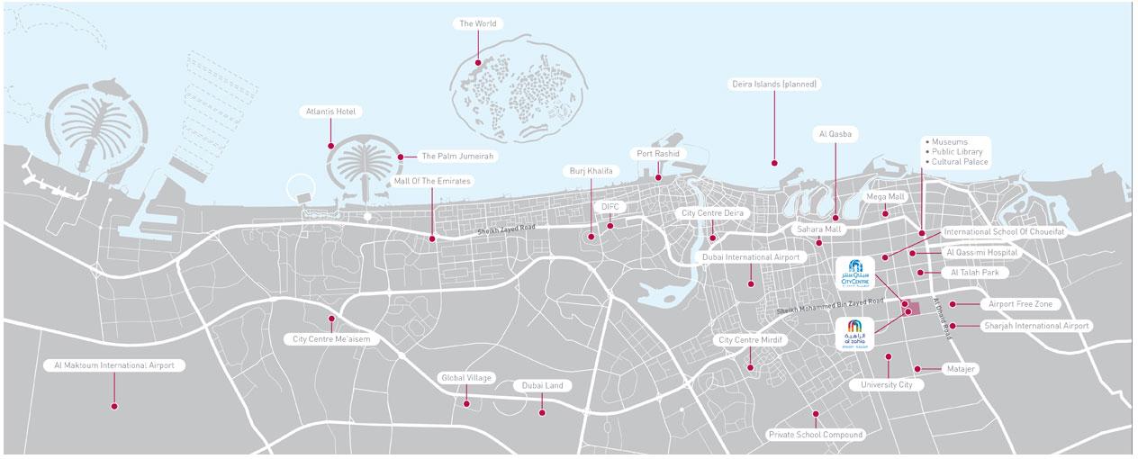 الورود-3 خريطة الموقع