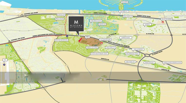 ديار-ميدتاون خريطة الموقع